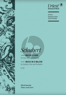 Messe G-major D.167 STB soli-SATB-Orchester Klavierauszug