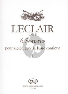 Leclair  6 Sonatas Vol.1 Violin-Bc (Nagy-Pallagi)