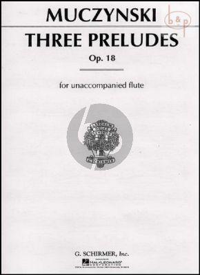 Muczynski 3 Preludes Op.18 Flute solo