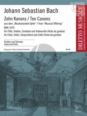 10 Kanons aus dem Musikalisches Opfer BWV 1079 Flute-Violin-Cembalo [Vc.]