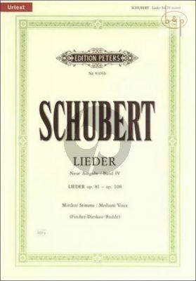 Lieder vol.4 (Mittel) (Neue Ausgabe Urtext)