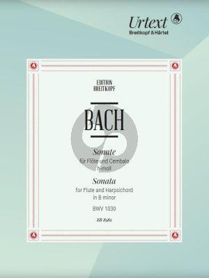 Bach Sonate h-moll BWV 1030 Flote und Cembalo[Klavier] (edited by B. Kuijken)