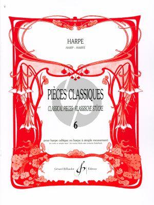 Album Pieces Classiques Vol.6 Harpe (Edition Par D. Megevand) (Superieur)