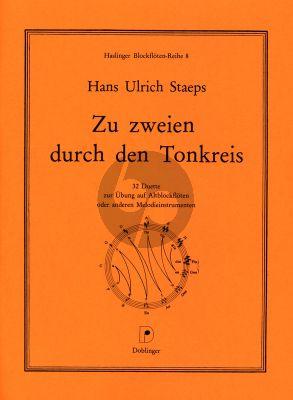 Staeps Zur zweien durch den Tonkreis 2 Altblockflöten (Ein Duettbuch zur Übung auf Altblockflöte in allen Tonarten)