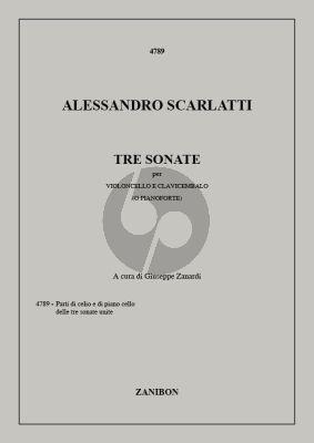 Scarlatti 3 Sonatas Violoncello-Piano