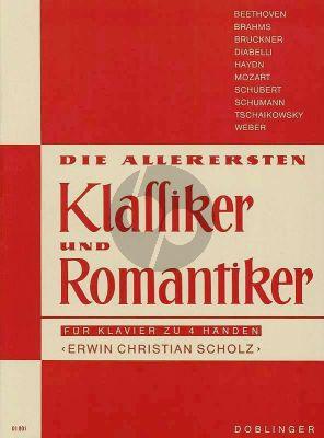 Allerersten Klassiker & Romantiker Klavier zu 4 hd (Erwin Christian Scholz)