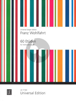 Wohlfahrt 60 Etuden Op.45 Violine (Stross)