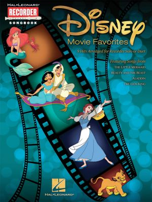 Disney Disney Movie Favorites 9 Hits Arranged for Recorder Solo or Duet