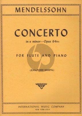 Mendelssohn Concerto e-minor Opus 64 bis Flute and Piano (transcr. Jean-Pierre Rampal)