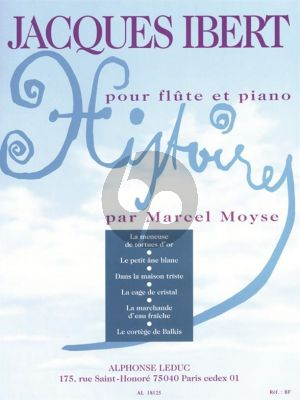 Ibert Histoires Flute and Piano (complete) (Marcel Moyse)