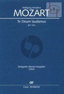 Te Deum Laudamus C-major KV 141(66b) (SATB-Orch.)