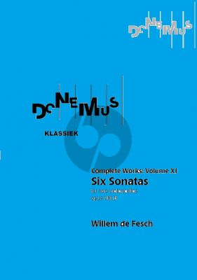 Fesch 6 Sonatas Op.8B for 2 violoncellos (Edited by Robert L. Tusler) (Collected Works Vol.XI)