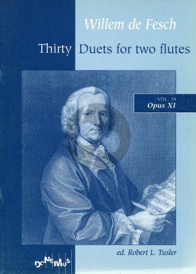de Fesch 30 Duets op.11 (Playing Score) (Tusler)