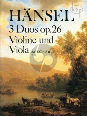 3 Duos Op.26 Violin-Viola