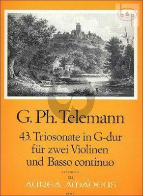 Triosonate G-dur TWV 42:G11