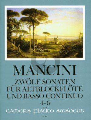 Mancini 12 Sonaten Vol.2 (No.4 - 6) Altblockflöte[Flöte/Oboe]-Bc (Winfried Michel)