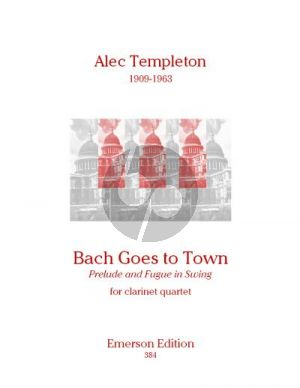 Templeton Bach goes to Town (4 Clar.[Bb]) (Score/Parts)