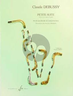 Debussy Petite Suite 4 Sax. (SATB) (Partition/Parties)
