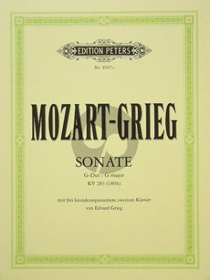 Mozart Sonate G-dur KV 283 (189h) (Grieg)