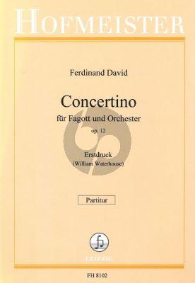 David Concertino Op.12 Fagott-Orchester Partitur