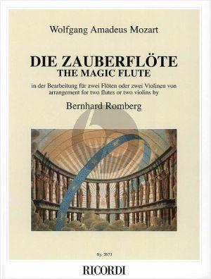Mozart Die Zauberflote 2 Flutes or 2 Violins (arr. Bernhard Romberg)