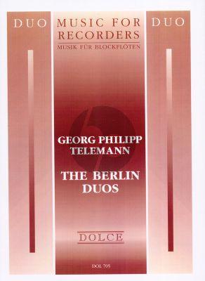 Telemann Berlin Duos 2 Treble Recorders