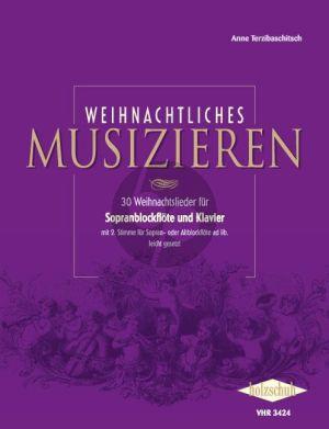 Weihnachtliches Musizieren (fur 1-2 Sopranblockflöten und Klavier)