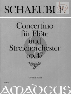 Concertino Op.47 (Flute-Orch.) (Score)