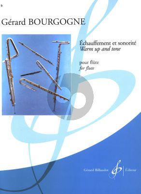Bourgogne Echauffement et Sonorite / Warm Up and Tone for Flute (Difficile [8])