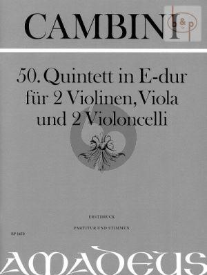 Quintet No.50 E-major (2 Vi.-Va.- 2 Vc.) (Score/Parts)