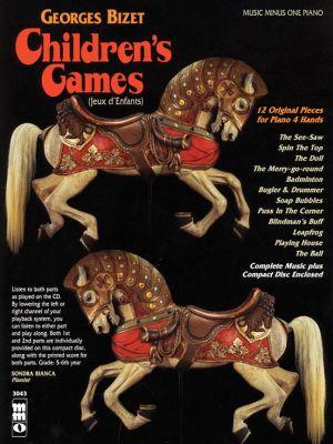 Bizet Jeux d'Enfants (Childrens Games) Op.22 Piano 4 Hands (Bk-Cd) (MMO)