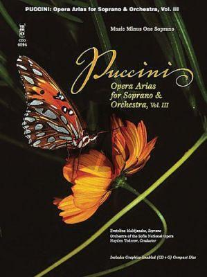 Puccini Opera Arias for Soprano and Orchestra Vol.3 (Bk-Cd) (MMO)