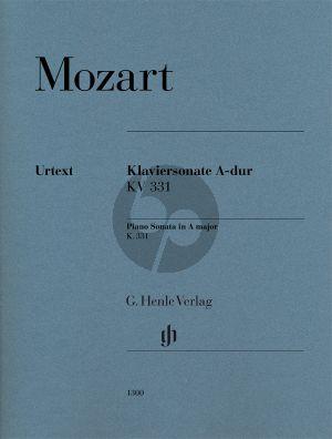Mozart Sonate A-dur KV 331 (edited by Wolf-Dieter Seifert) (fingering by Markus Bellheim) (Henle-Urtext)