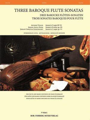 3 Baroque Flute Sonatas
