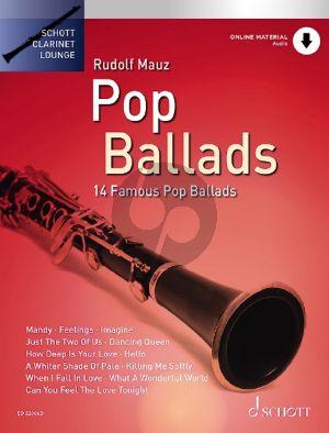 Pop Ballads Clarinet and Piano (14 Famous Pop Ballads) (Bk-Audio Online) (edited by Rudolf Mauz)