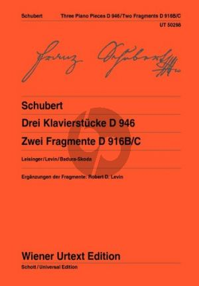 3 Klavierstucke D 946 und 2 Fragmente D 916B/C Klavier