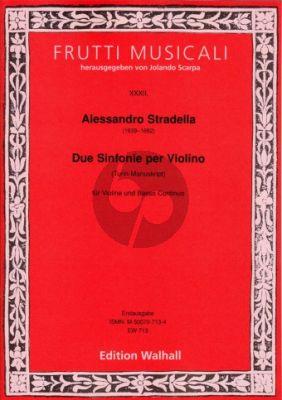 Due Sinfonie per Violino Violin-Bc