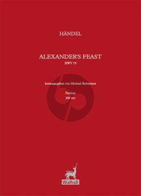Alexander's Feast HWV 75 Vocal Score
