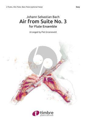 Bach Air from Suite No.3 Solo Flute-Flute 1-2-Alto Flute-Bass Flute
