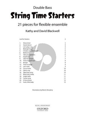 Blackwell String Time Starters (21 easy pieces for flexible Ensemble Bass Book