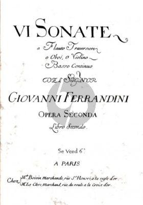 VI Sonate Op. 2 (Flute[Oboe/Violin]-Basso