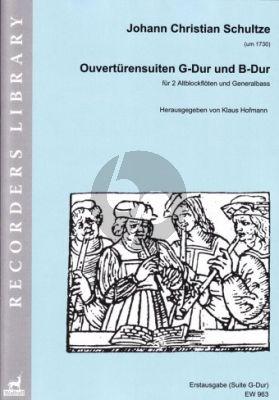 Schultze Ouverturensuiten G-Dur und B-Dur 2 Blockfloten-Bc