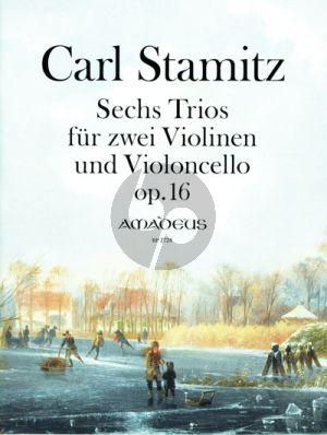 Stamitz 6 Trios Op. 16 2 Violinen-Violoncello