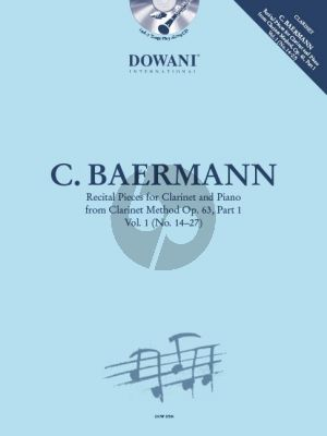 Baermann Recital Pieces for Clarinet and Piano from Clarinet Method