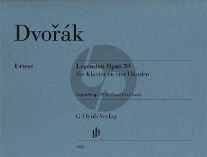 Dvorak  Legenden Op.59 Piano 4 Hds