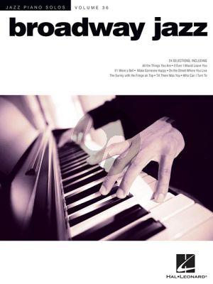Broadway Jazz (Jazz Piano Solos Series Vol.36)
