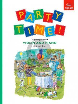 Rose Party Time (18 Party Pieces) Violin-Piano (untill Grade 1)