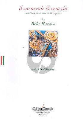 Kovacs Il carnevale di Venezia Klarinette-Klavier
