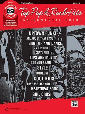 Top Pop & Rock Instrumental Solos Alto Sax. (Bk-Cd)