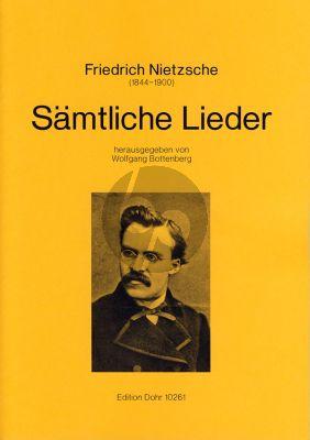Nietzsche Sämtliche Lieder Gesang-Klavier (ed. Wolfgang Bottenberg)
